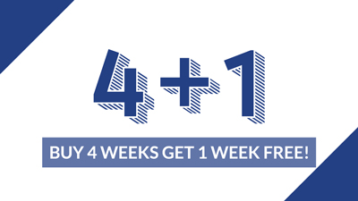 4 + 1 Weeks Daytime English FREE